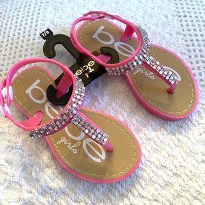 Pink Bebe Girls Sandals Size 7/8